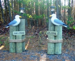Outdoor Seagull Decorations