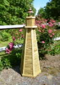How to Build a 4 ft. Wooden Lawn Lighthouse. DIY Wood Plans.
