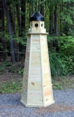 How to Build a Lawn Lighthouse made of Pressure Treated Lumber
