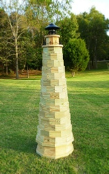 How to Build an Authentic 6 ft. Lawn Lighthouse. Plans Include Photos.