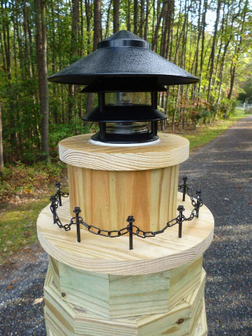 buy a post light at your local home improvement store - Amish Lighthouse Plans