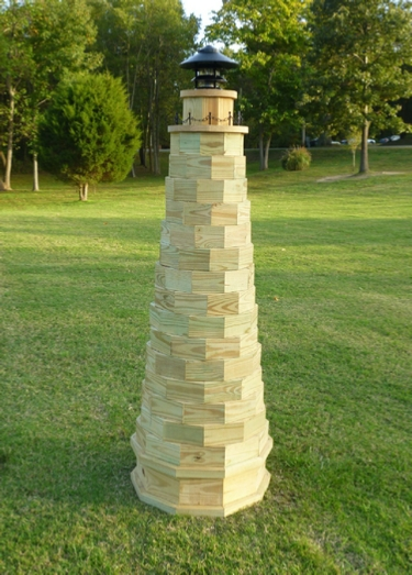 6 Ft. Tall Lawn Lighthouse Do It Yourself Woodworking Plans