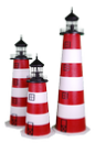 Authentic Stucco Lawn Lighthouses. Economy Models at a Great Price.
