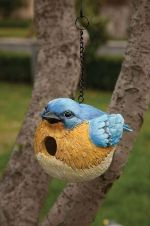 Portly bluebird house