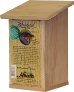 wooden bluebird house with opening front