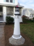 Lighthouse in customer's yard