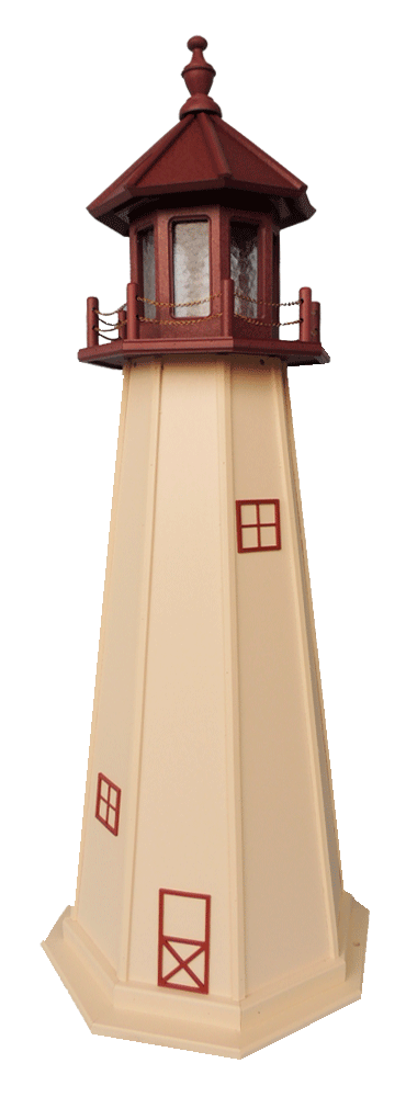 Polywood Lawn Lighthouses With Lighted Beacons