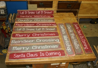 Primitive Country Christmas Signs. Handcrafted Decor.
