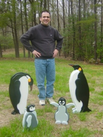 Huge 3D Handcrafted Penguins Lawn Ornaments