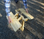 How to build a folding Adirondack table