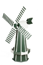 Green and Ivory Windmill