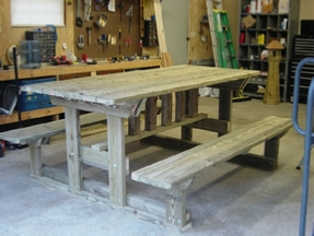 A picnic table I designed for a child with autism