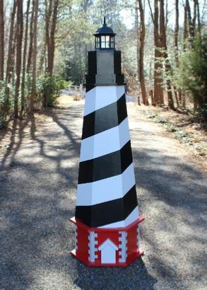 Plans for a Cape Hatteras Lawn Lighthouse. DIY Wood Plans.