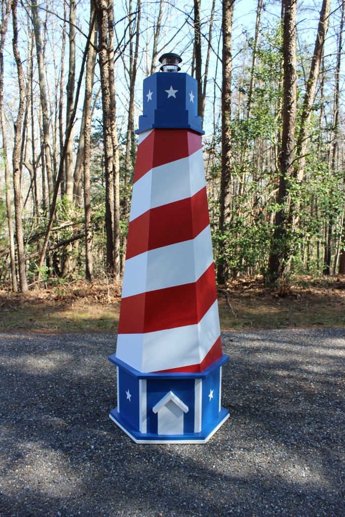 American theme lawn lighthouse