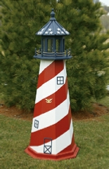 Wooden Amish Lawn Lighthouses Patriotic