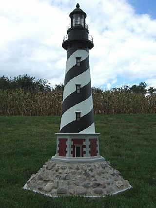 Wooden And Polywood Bases For Your Lawn Lighthouse