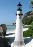 Lawn Lighthouse with solar beacon