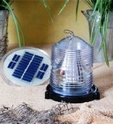 Solar beacon for lawn lighthouse