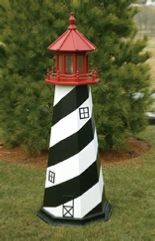 Wooden Amish Lawn Lighthouses Augustine