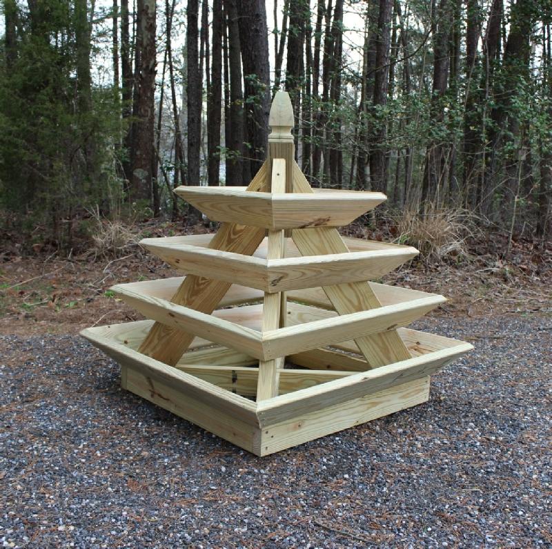 How to build a pyramid strawberry planter. DIY plans.