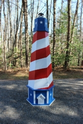 How to Build a Patriotic USA Lawn Lighthouse. DIY Wood Plans.
