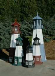 Wooden Amish Lawn Lighthouses 2 Ft To 12 Ft Tall