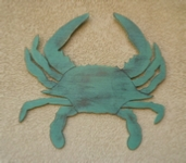 Wooden blue crab