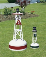 Ornamental Nautical Lawn Buoys with Solar Lights