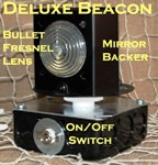 Deluxe rotating beacon for lawn lighthouse