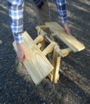 woodworking plans for a folding Adirondack table