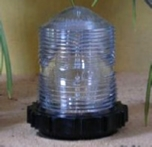 Fresnel beacon for lawn lighthouse