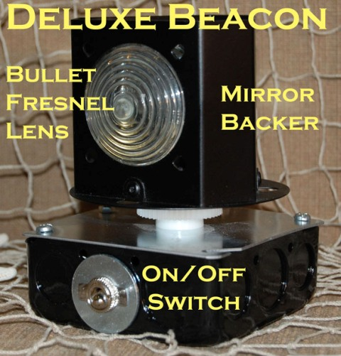 rotating beacon with on off switch