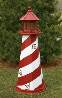 white shoal wooden lighthouse - Amish Lighthouse Plans