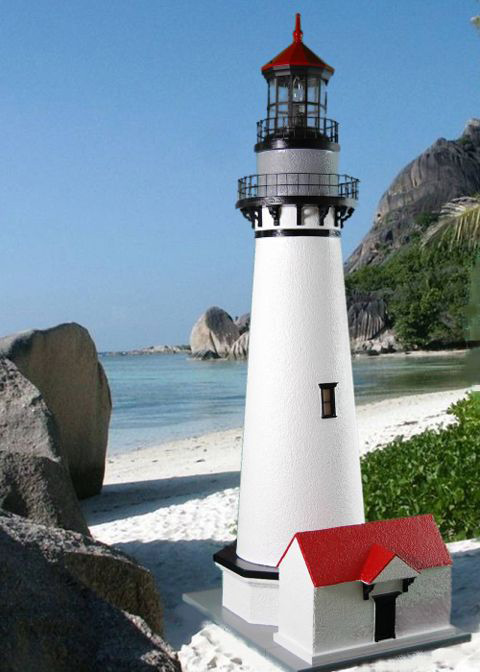 Authentic Stucco Lawn Lighthouses Economy Models At A