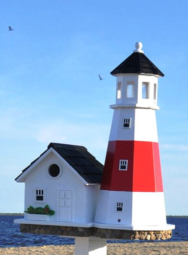Pdf diy birdhouse lighthouse plans download birdhouse for Lighthouse home plans