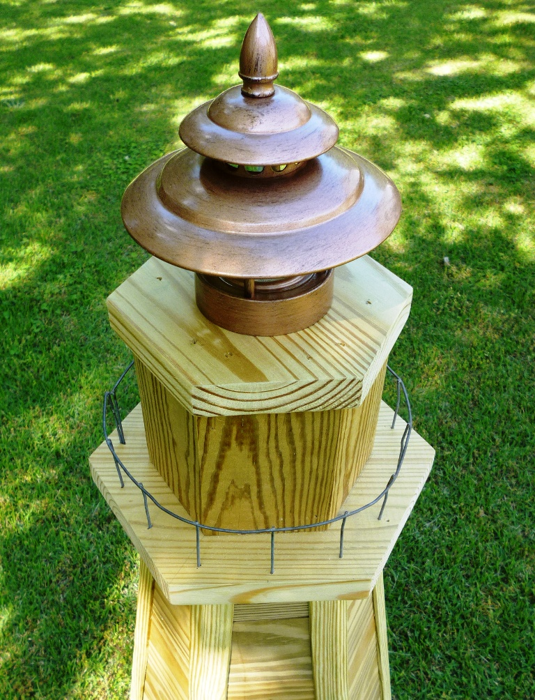 Garden Lighthouse Plans http://www.chesapeakecrafts.com/lawn_lighthouse_plans.php