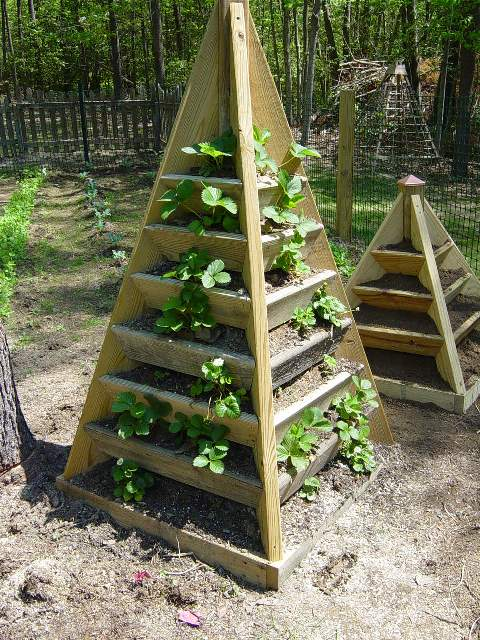 how to build a pyramid strawberry planter diy plans. Black Bedroom Furniture Sets. Home Design Ideas