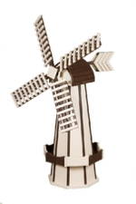 Ivory and Brown Windmill