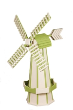 Ivory and Lime Green Windmill