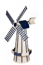 Ivory and navy blue windmill