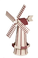 Ivory and red windmill