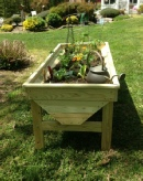 Plans for a Raised Garden Planter. Trough Design.