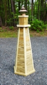 DIY Lighthouse Plans. How to Build a 4 ft. Wooden Lawn Lighthouse.