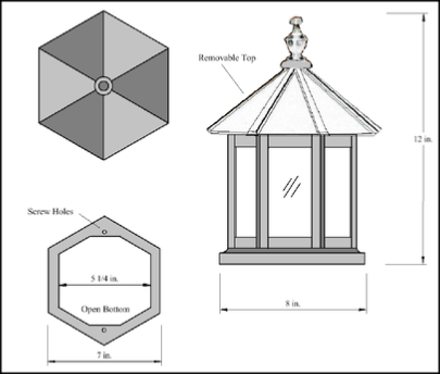 Lighthouse top dimensions