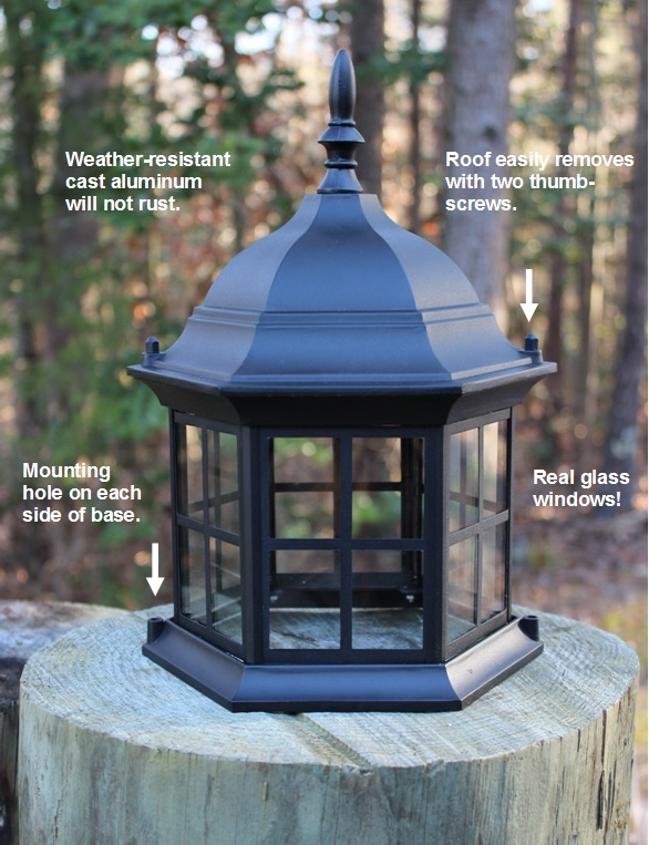 Lighthouse Replacement Top Metal With Removable Roof