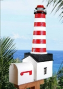 Amazing Lighthouse Mailboxes with Solar Lights - Free Shipping