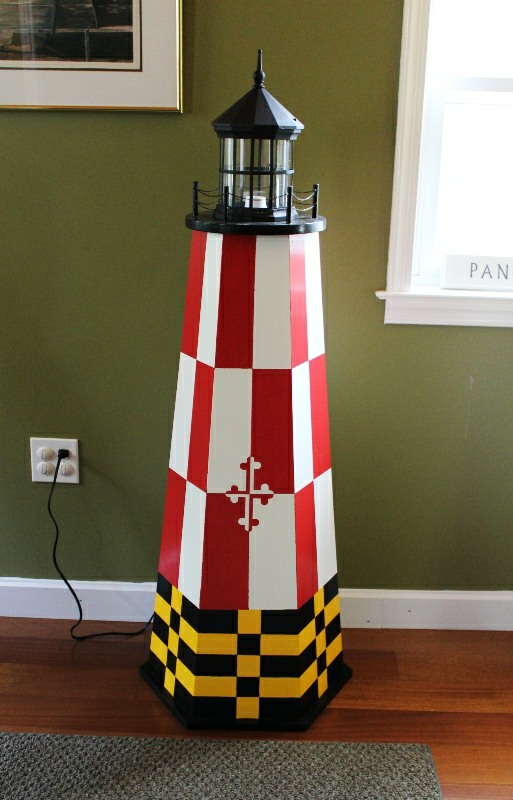 Build A 4 Ft Painted Lawn Lighthouse Illustrated Wood Plans