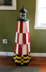 Maryalnd theme lighthouse lamp