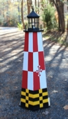 Build a 4 ft. Painted Lawn Lighthouse. Illustrated Wood Plans.