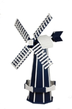 Navy blue and white windmill